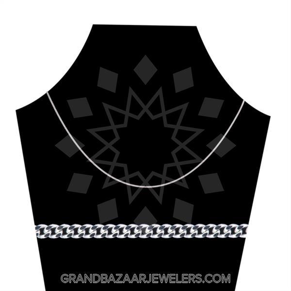 925 Silver Metal Chain Tondo Necklace