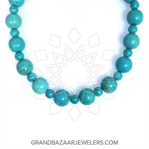 Beaded Gemstone Statement Necklace