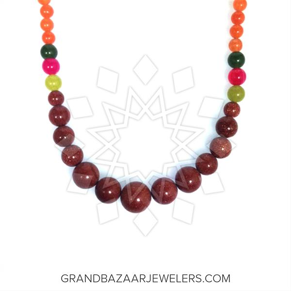 Beaded Gemstone Statement Necklace
