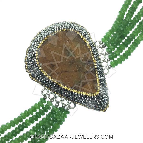 Beaded Strap Druzy Design Bracelets