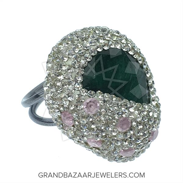 Crystal Clear Druzy  Rings
