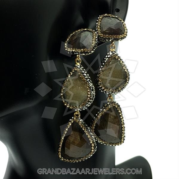 Triple Drop Gemstone Natural Gemstones