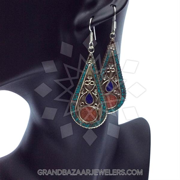 Ethnic Tribal Design Earrings