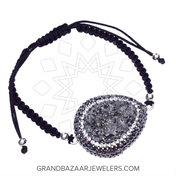 Gem and Crystal Macrame String Bracelets