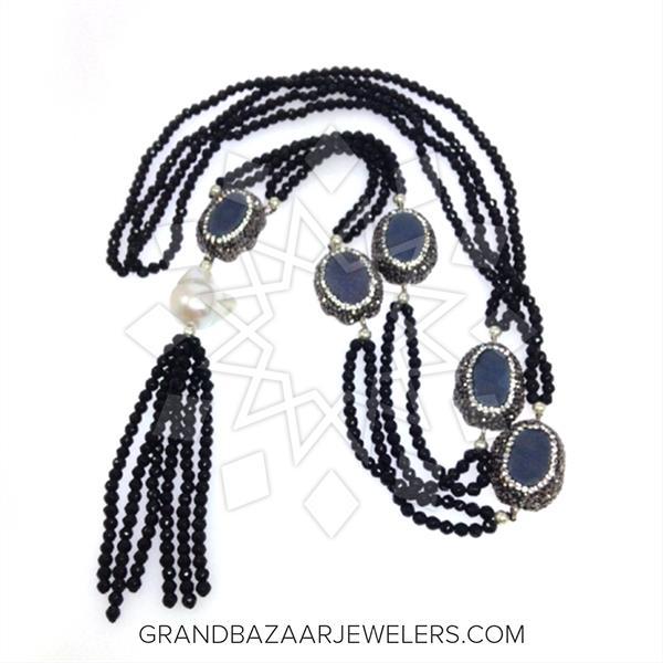 Designer Multi Station Gemstone Necklace