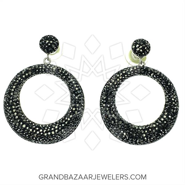 Geometric Druzy Earrings