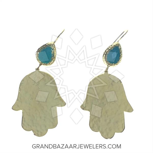 Hand of Fatima Fashion Bijou Earrings