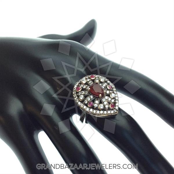 Hurrem Sultan Turkish Silver Bursting Ring