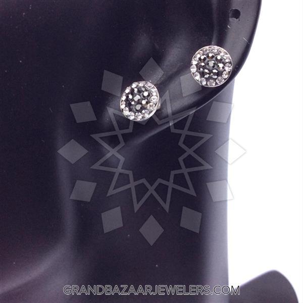 Single Stud Gem and Crystal Earrings