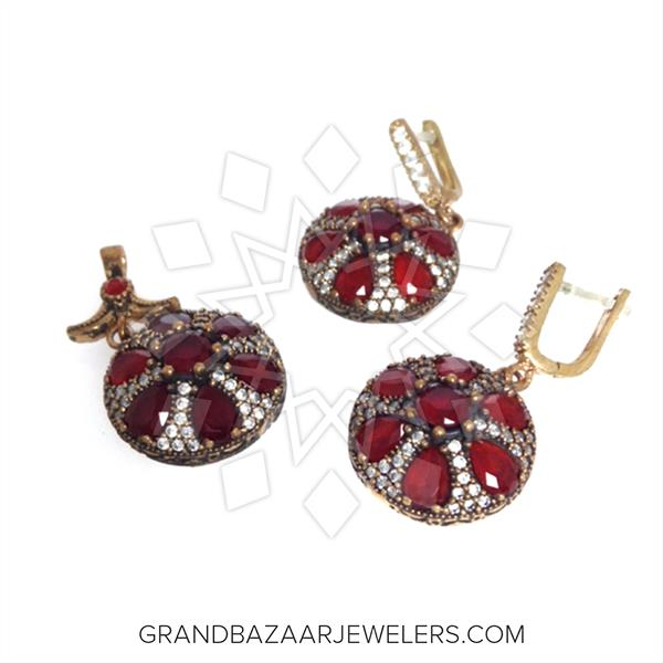 Ottoman Floral Design Jewelry Mixed Sets