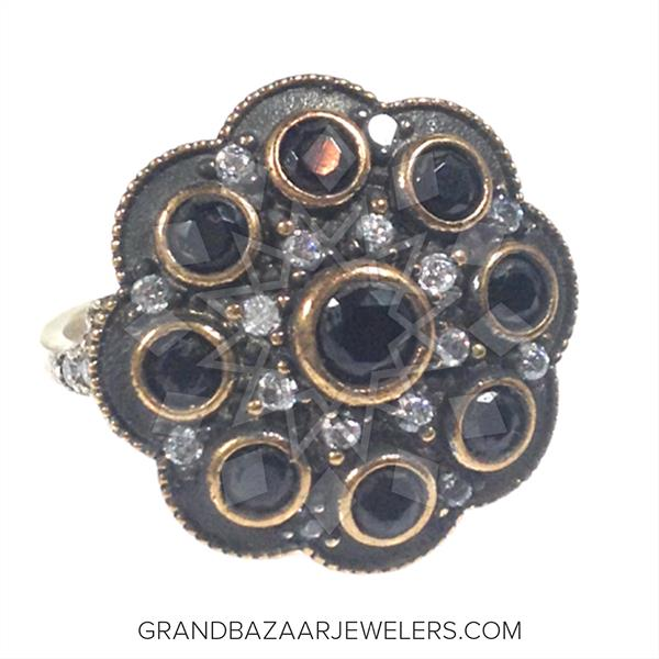 Ottoman Jewelry Floral Design Rings