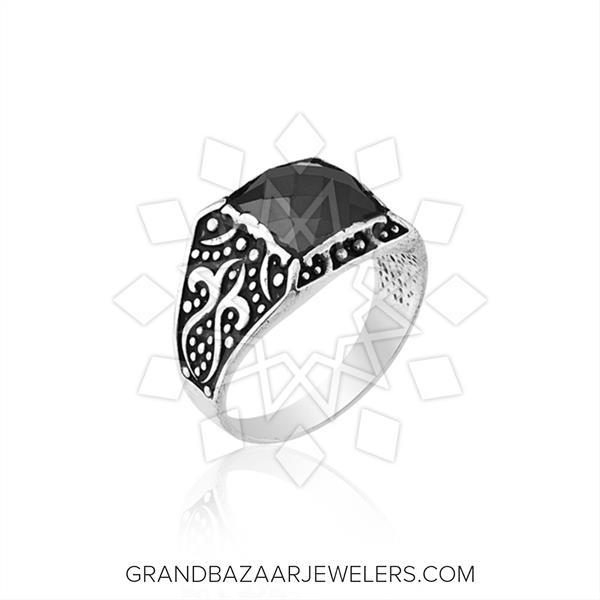 Pasha Mens 925 Silver Ethnic Design