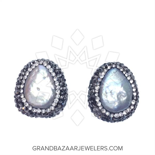 Single Gem and Crystal Stud Earrings