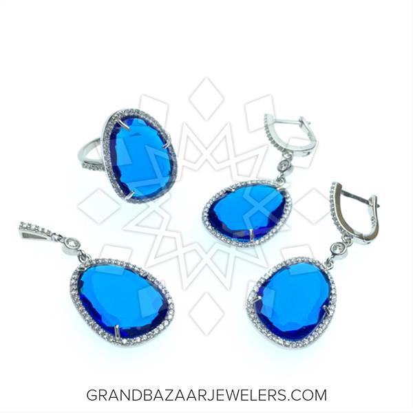 Slice Cut Gemstone Jewelry  Sets