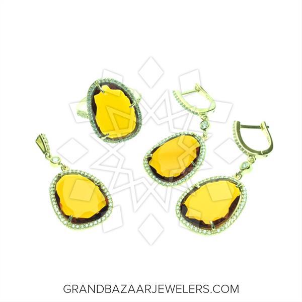 Slice Cut Gemstone Jewelry  Sets