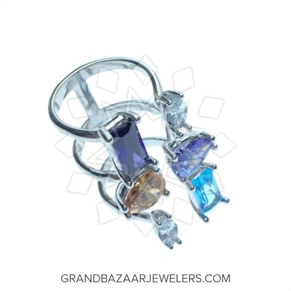 Color Gemstone Sterling Silver Rings
