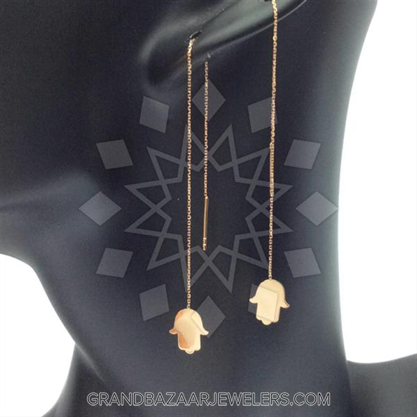 14 Karat Gold Motif Necklace
