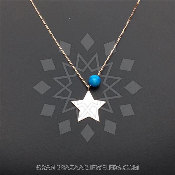 14 Karat Gold Motif Necklace