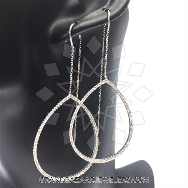 Threader Dangle 925 Silver Earrings